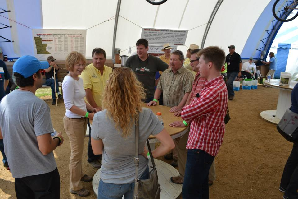 James Redmond and our friends at the Minnesota Farmers Union at Farm Fest 2014